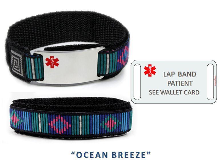 LAP BAND PATIENT Sport Medical Alert ID Bracelet. Free medical Emergency Card! image 3