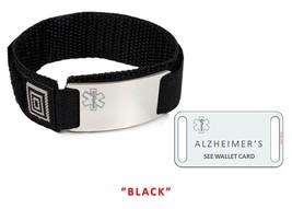 ALZHEIMERS Sport Medical Alert ID Bracelet. Free medical Emergency Card! TKID68 image 1