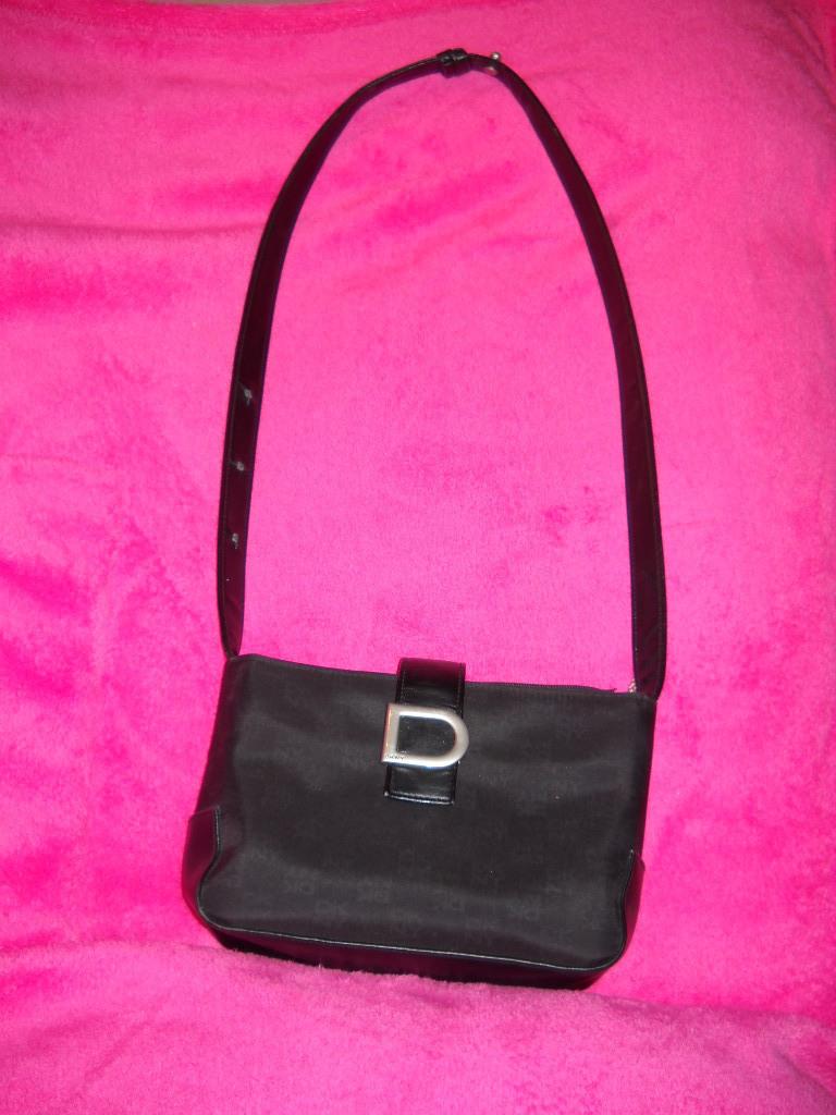 DKNY Black Microfiber Shoulder Bag