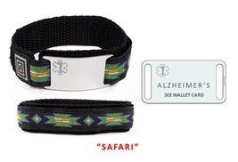 ALZHEIMERS Sport Medical Alert ID Bracelet. Free medical Emergency Card! TKID68 image 5