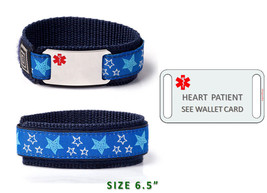 "HEART PATIENT Sport Medical Alert ID Bracelet  6.5"". Free medical Emergency Card image 2"