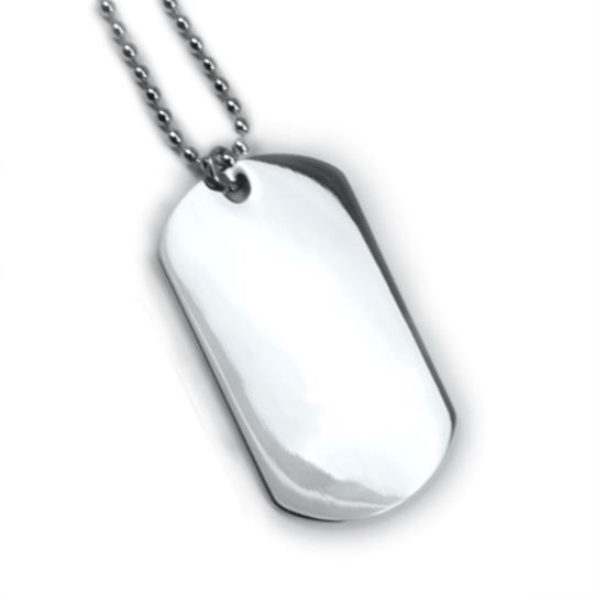 Premium Dog Tag. Free 12 lines engraved. Free Wallet Card! Model IDNS15