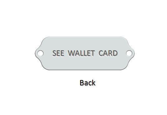 CELIAC DISEASE Medical Alert ID Bracelet. Free medical Emergency Card! IDB61 image 2