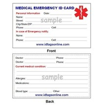 Contact Lenses Medical Alert ID Bracelet. Free medical Emergency Card! TKID53 image 3