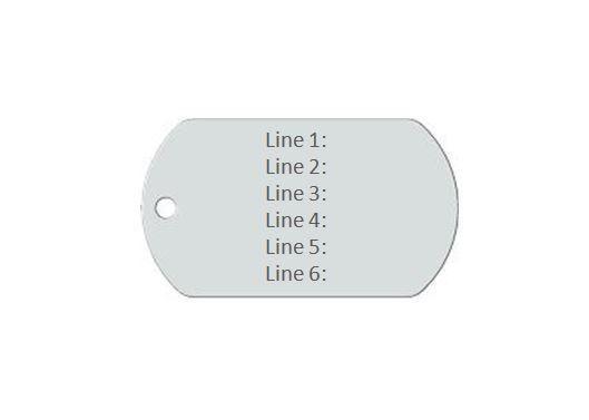 Medical Alert ID Dog Tag Engraved emblem. Free 6 lines engraved Free Wallet Card image 2