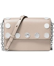 NWT Michael Kors Women's Rivington Stud Natalie Small Chain Messenger, Pink - $141.61