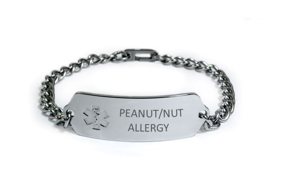 PEANUT NUT ALLERGY Medical Alert ID Bracelet. Free medical Emergency Card! image 6