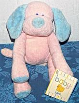"10"" Bebé Ganz Rosa Azul Cachorro Sonajero Largo Piernas Peluche Shammies... - $33.27"