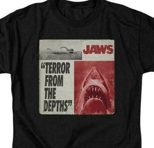 Jaws Terror from the depths retro 70's shark thriller graphic t-shirt UNI903 image 2