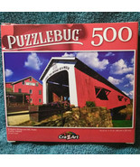 Puzzlebug 500 Piece Puzzle Bridgeton Bridge and Mill Parke County Indiana - $9.88