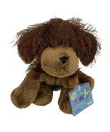 """Webkinz Brown Dog HM195 Plush Ganz Brown Sealed Code 9"""" Eyelash Fur - $9.85"""