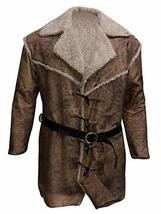 Hell On Wheels Anson Mount Cullen Bohannon Fur Shearling Brown Leather Coat image 1