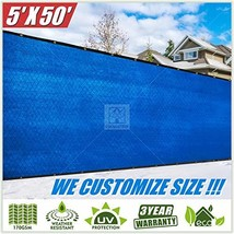 ColourTree 5' x 50' Blue Fence Privacy Screen Windscreen Cover Fabric Sh... - $59.44