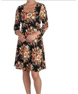 TRAVEL ELEMENTS XL Tropical COLOR FLORAL fit and flare DRESS NWT - $18.46