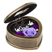 EINID Handmade Preserved Roses Flower Forever Fresh Rose in Heart Shaped... - $44.79