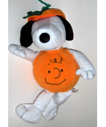 Hallmark Halloween Snoopy Plush Stuffed Animal As Charlie Brown Face Pum... - $15.39
