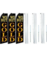 We Buy Gold Swooper Flag With Complete Hybrid Pole set- 3 pack - $144.53