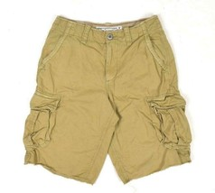 American Eagle Cargo Shorts Brown Long Board Utility Pockets Mens 30 Rel... - $17.81