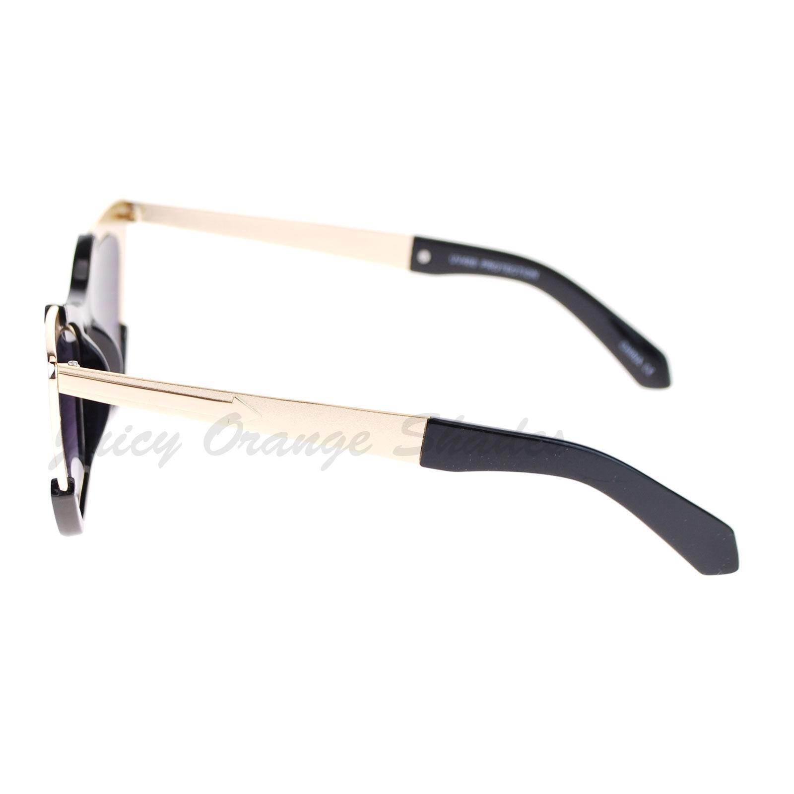 Retro Designer Sunglasses Trapezoid Cateye Runway Fashion Shades