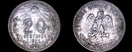 1906 Mexican 20 Centavo World Silver Coin - Mexico - $22.49