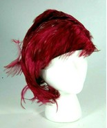 Vintage Jack McConnell Pink Magenta Pheasant Feather Asymmetrical Church... - $149.92