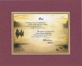 Personalized Touching and Heartfelt Poem for Father - Dad, I Thank You for Your  - $22.72
