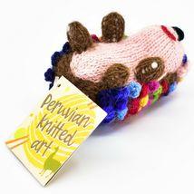 Handknit Alpaca Wool Whimsical Hanging Porcupine Ornament Handmade in Peru image 5