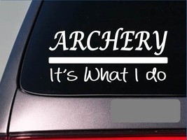 Archery sticker decal *E262* bow arrow broadhead target bullseye deer stand 2a - $2.99