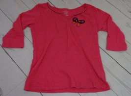 Old Navy Girls Pink Butterfly Shirt Size M - A1610 - $4.79