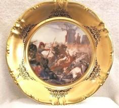 Vtg Schwarzenbach Winterling Bavaria Porcelain Charger Plate Cassioli Battaglia - $65.00