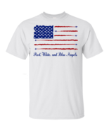 American Flag Red White And Blue Angels Gildan Ultra Cotton T-Shirt Men - £12.78 GBP+