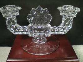FOSTORIA AMERICAN DOUBLE CANDLE HOLDER~~~nice one - $12.99