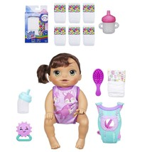 Baby Alive Baby Go Bye-Bye Brunette Doll with Diapers and Sippy Cup Bund... - $69.95