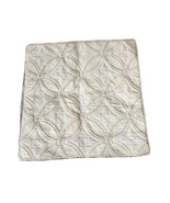 Martha Stewart Euro Size Pillow Sham Pale Yellow Tan Circle Medallion - $13.30