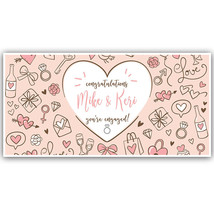 Love Collage Congratulations Engagement Banner Personalized Party Backdrop - $23.64+