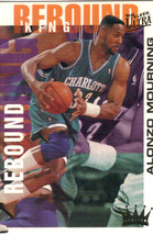 1994-95 Fleer Ultra NBA Basketball Trading Card Alonzo Mourning Rebound King #3 - $3.95