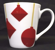 Starbucks Red Christmas Ornaments Round White Coffee Tea Mug Cup Holiday... - $6.95