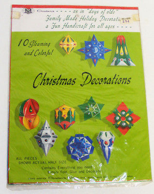 Primary image for 1973 Christmas Decorations Kit by Chadwick - NOS