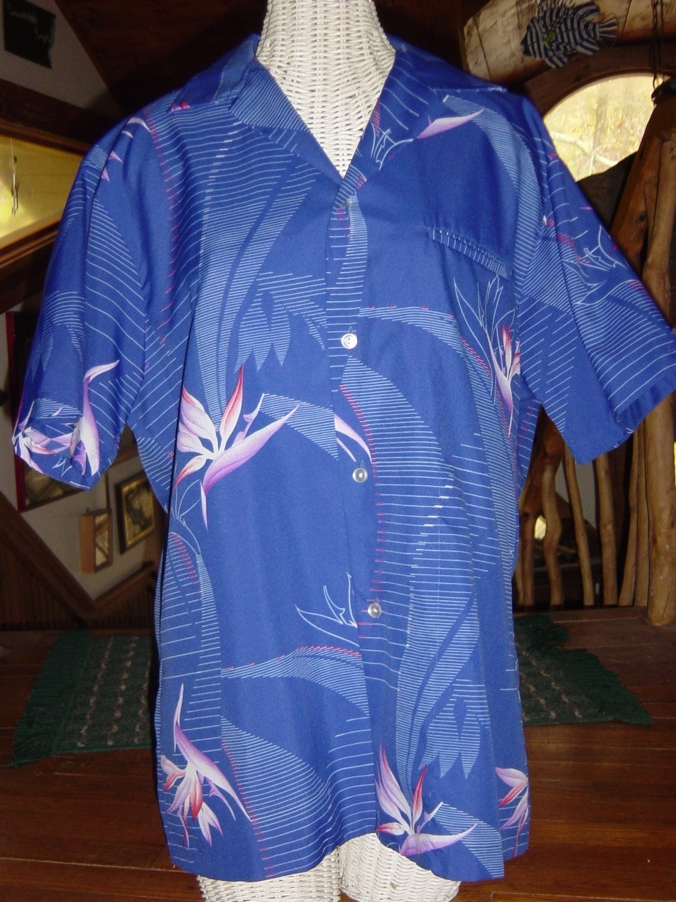 Made in Honolulu Hawaii Hawaiian Shirt Bird of Paradise Island Fashions