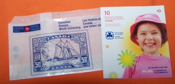 Girl Guide Stamps Canadian  New