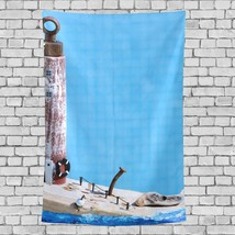 Girl Wall Tapestry Beautiful Lighthouse Landscape Pattern Wall Room Deco... - $26.00