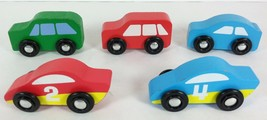 Melissa and Doug Wooden Vans Cars Race Car Lot of 4  - $7.13