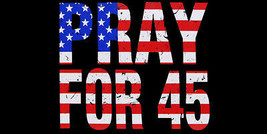 Wholesale Lot of 6 Pray For 45 Black Decal Bumper Sticker - $13.88