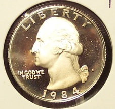 1984-S DCAM Proof Washington Quarter PF65 #277 - $3.19