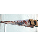 Order 4 Hand Painted Handsaw, Custom Order, Winter, Old Farm For Sale - $56.00