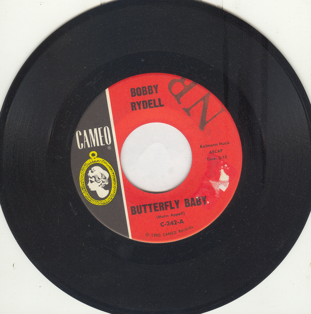 BOBBY RYDELL 45rpm Butterfly Baby b/w Love Is Blind