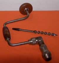 Vintage Hand Drill With Bit 1940 - $30.00