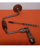 Vintage Hand Drill With Bit 1940 - €27,77 EUR