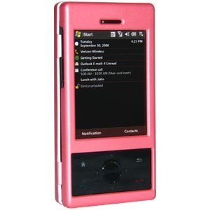 Amzer Rubberized Snap-On Crystal Hard Case for HTC Touch Pro xv6850 - Baby Pink