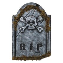 Tombstone Skullface Prop Haunted House Graveyard Tomb Halloween VA959 - £29.78 GBP
